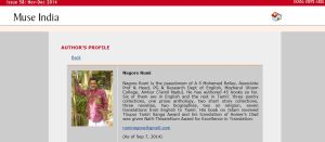 My Profile in Muse India